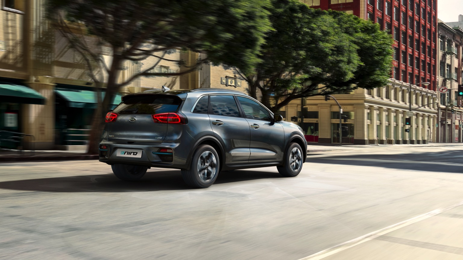 kia e-niro on road