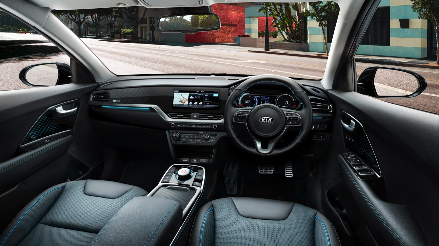 inside the Kia E-niro ev charger